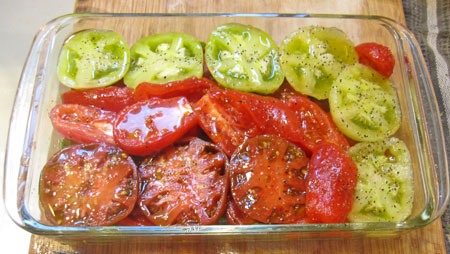 salted, peppered, oiled and ready for the oven