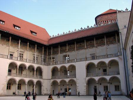 Wawal Castle courtyard