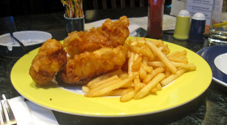 delicious American fish n chips... yum