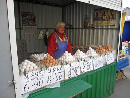 market eggs