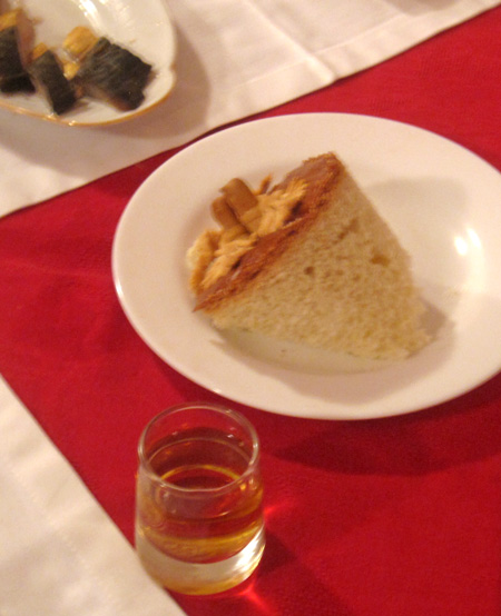 bread and vodka... tradition rules