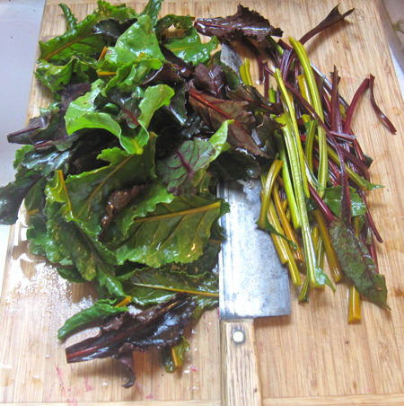 beet greens - greens and stems