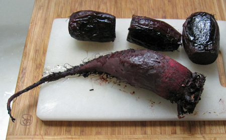 roasted beets, these are formanova or cylindra