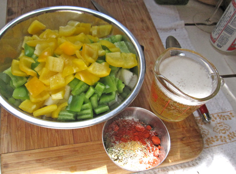 add your vegetables and spices and cook until softened