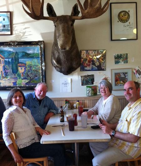 Didja ever eat with a moose?