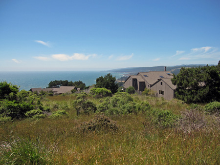 Sea Ranch from the hill road as I walk back