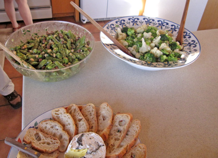the featured salads and bread