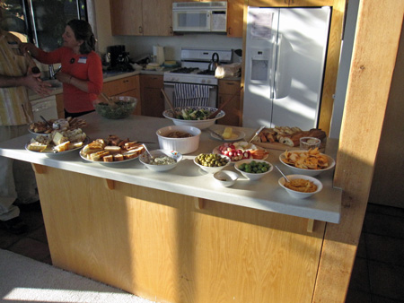 food spread in the kitchen