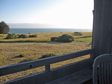 from the deck where I set up the grill