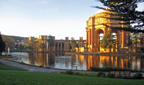 Palace of Fine Arts designed by Bernard Maybeck for the 1915 Panama-Pacific Exposition.
