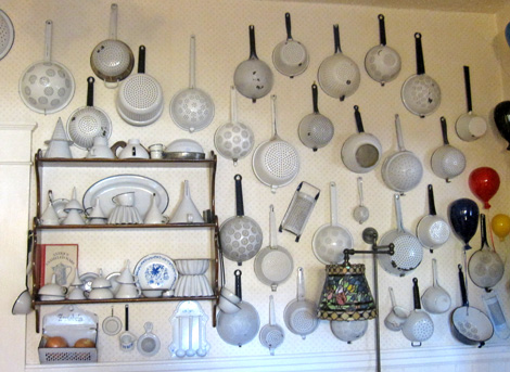 enamelware... note funnel collection lower left