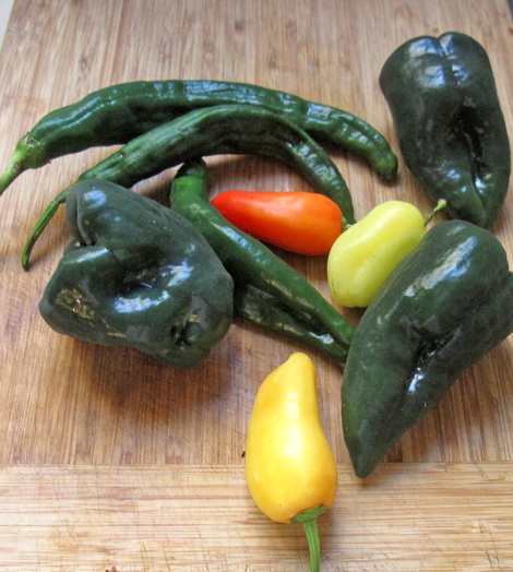 the fresh chilis for the chili