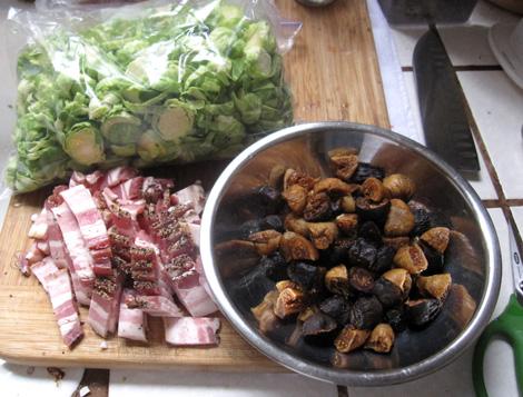 brussels, bacon, figs